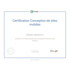 Certification Conception de sites mobiles