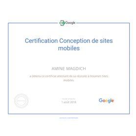 Certification Conception de sites mobiles
