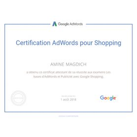 Certification AdWords pour Shopping
